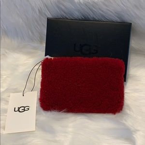 New UGG Australia Red fur pouch